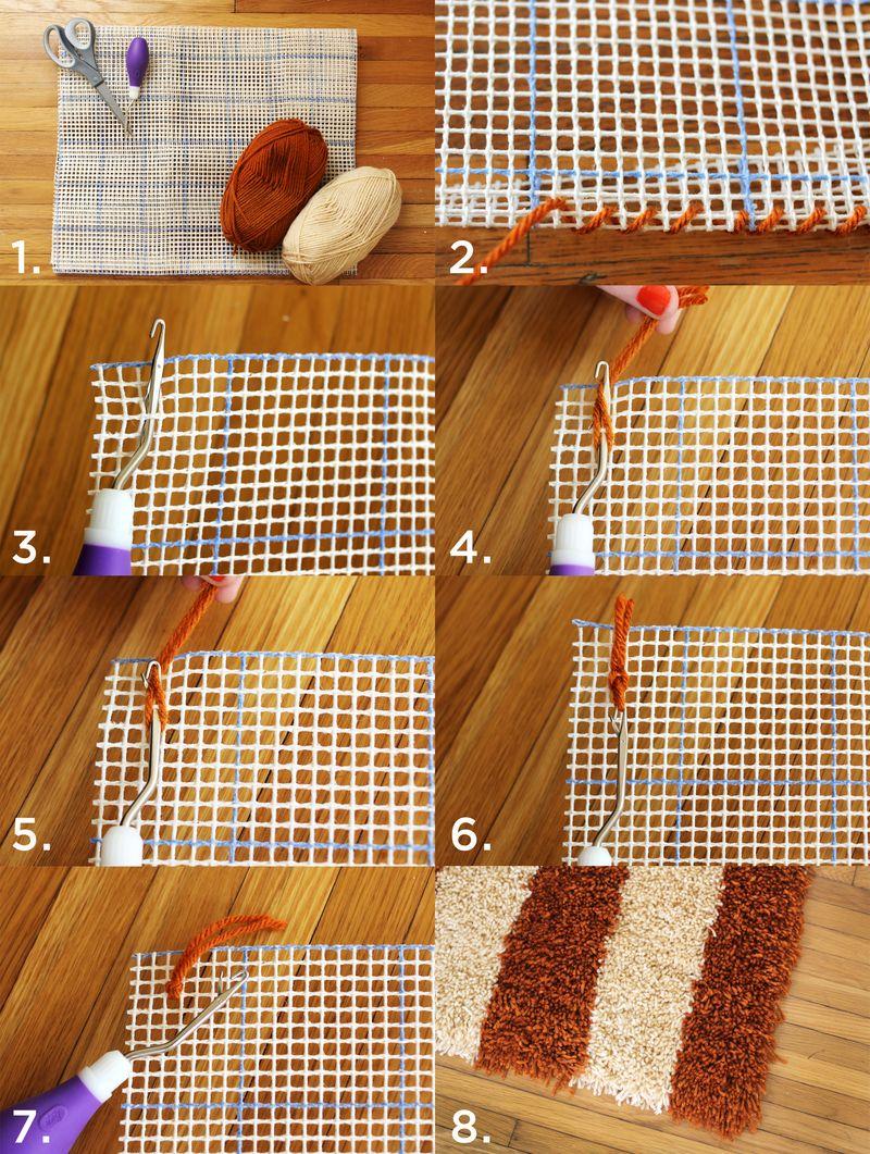 Как самому сделать коврик для ванной